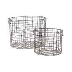 Tisket Tasket Metal Baskets - Set of 2 | dotandbo.com
