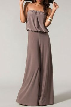 Class With A Twist Of Sass Jumpsuit-Mocha