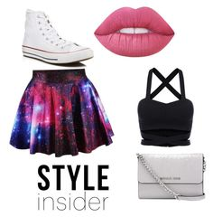 """""""Untitled #19"""" by sparklegirl17 on Polyvore featuring Converse, Lime Crime and MICHAEL Michael Kors"""