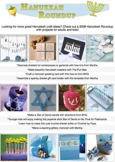 16 Hanukkah themed craft tutorials, printables, how-tos and diy activities for kids and adults!