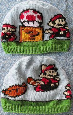 Free knitting pattern for Mario Transformation Hat