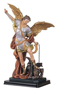 AmazonSmile - 12 Inch Saint Michael the Archangel Holy Figurine Religious Decoration - Statues