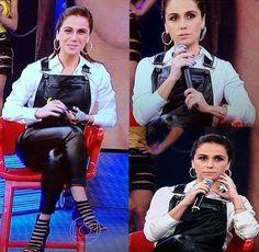 Atriz Giovanna Antonelli no Programa do Faustão - Macacão Inverno 14 lancaperfume.com.br