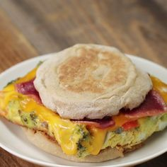 healthy snacks - Breakfast Sandwich Meal Prep Recipe by Tasty Make Ahead Meals, Easy Meals, Meals To Go, Meals To Freeze, Easy Meal Prep, Meal Prep Dinner Ideas, Budget Meal Prep, Egg Recipes For Dinner, Meal Prep Menu