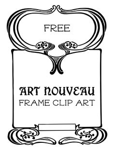 Royalty Free Stock Vector | Art Nouveau Frame - http://vintagegraphics.ohsonifty.com/royalty-free-stock-vector-art-nouveau-frame/