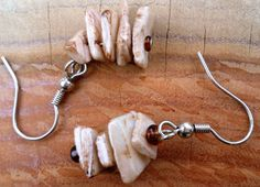 Brown conch shell earrings by SweetBobblesJewelry on Etsy Mothers Day special 10% off order with Promo Code MOMDAY
