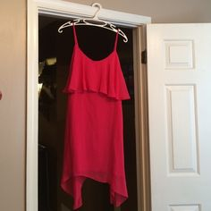 Poshmark addition BCBGENERATION hot pink layered ruffle dress