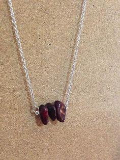 Crimson Red Stone Necklace