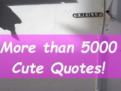 These slides referring on more than 5000 cute quotes.