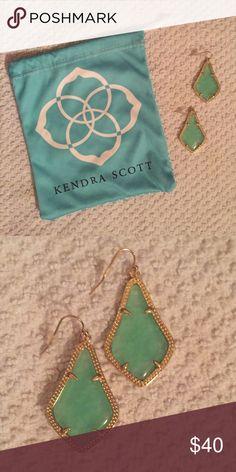 Kendra Scott earrings Kendra Scott earrings. New condition. Light bluish-green color. Kendra Scott Jewelry Earrings