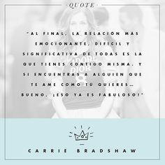 Las mejores quotes de Carrie Bradshaw : ELLE
