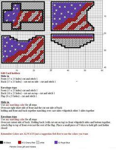 Patriotic Cross Gift Card Holders