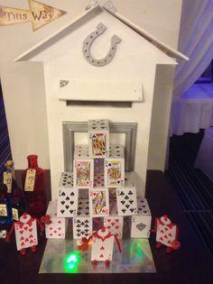 Alice in Wonderland Wedding House of Cards
