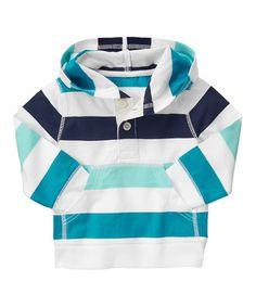 Loving this Blue Stripe Hoodie - Infant & Toddler on #zulily! #zulilyfinds