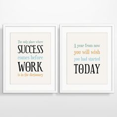 Office Wall Decor office wall art success quotes motivational wall decor printable