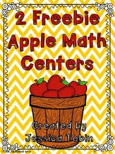 Freebie Apple Math Centers