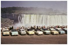 Another Kind of 50s Drive-in, classic cars and cool people line up to see Niagara Falls 12 x 8