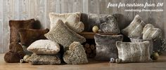 Next Faux Fur Cushions Large Cushions, Scatter Cushions, Throw Pillows, Woodland Living Room, Living Room Decor, Living Rooms, Stay Warm, Warm And Cozy, Childrens Beds