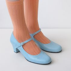 Biba Mary Janes heels. goldenponies, via Etsy.