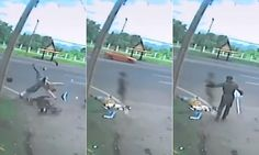 Creepy video shows 'woman's soul leaving her body after road crash'