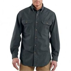 Men's Carhartt� Fort Solid Long-Sleeve Shirt