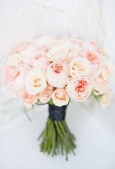 light pink and peach bouquet #weddingbouquet