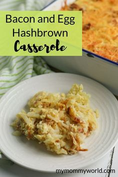 This bacon and egg hashbrown casserole is great for feeding a hearty breakfast to a big crowd or for when you want a make-ahead meal for the morning. Breakfast For A Crowd, Food For A Crowd, Eat Breakfast, Breakfast Casserole, Big Crowd, Egg Recipes, Brunch Recipes, Breakfast Recipes, Breakfast Ideas
