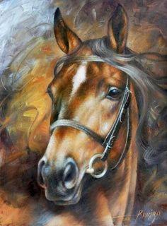 2019 New Hot Sale Full Square Diamond Horse Painting Cross Stitch Kits UK Painted Horses, Horse Drawings, Animal Drawings, Cross Paintings, Animal Paintings, Horse Pictures, Art Pictures, Oil Painting Pictures, Arte Equina