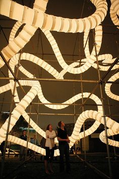 Giant Winding Installation Made From Buckets