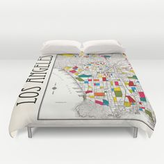 White world map duvet cover white and gray bed bedroom decorate i love la gumiabroncs Choice Image