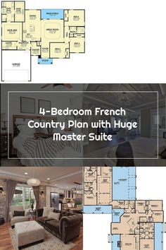 4-Bedroom French Country Plan along with Huge Master Suite : 51782HZ | Architectural Styles - House Plans #FrenchCountrybedroomsDecoratingIdeas #FrenchCountrybedroomsMasterSuite #FrenchCountrybedroomsVintage #FrenchCountrybedroomsRustic #FrenchCountrybedroomsModern #FrenchCountrybedroomsBlue