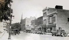 Main Street Pontiac - looking north, on the East side of the square, early 1920's