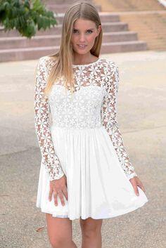 Innocent White Embroidered Princess Skater Dress