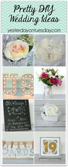 7 Pretty and Budget Friendly DIY Wedding Ideas. Make stuff for the big day and save cash!