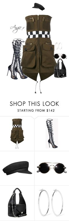 """""""Untitled #747"""" by stylzbyang ❤ liked on Polyvore featuring Dsquared2, Balenciaga and Jennifer Fisher"""