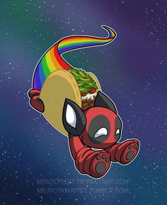 Nyan Deadpool Taco Cat by NeroStreet----->>>>has anyone seen a better meme than this?!?
