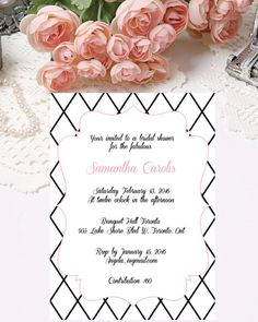 Printable Bridal Shower Invitations Digital by PapierCouture1