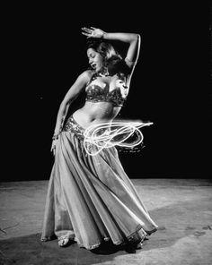 Egyptian dancer Samia Gamal - March 1952 Photographer:Loomis Dean