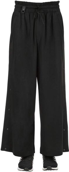 Cotton blend track pants w/ snaps, Black, Luisaviaroma Mens Athletic Pants, Gym Men, Harem Pants, Track, Cotton, Fashion, Moda, Harem Trousers, Runway