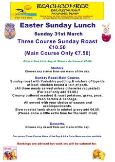 Easter Sunday Lunch Menu Easter Lunch, Happy Easter Day, Palm Sunday, Sunday Roast, Lunch Menu, Recipes, Luncheon Menu, Food Recipes, Rezepte