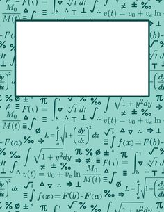 Free printable calculus binder cover template. Download the cover in JPG or PDF format at http://bindercovers.net/download/calculus-binder-cover/