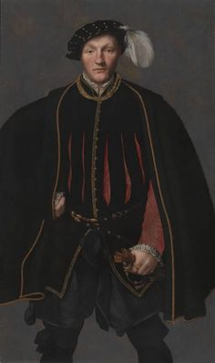 ?British School, 'Portrait of a Gentleman, probably of the West Family' 1545-60