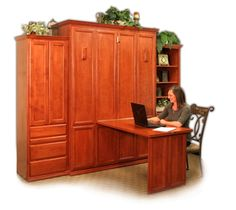 Murphy bed that becomes an office.