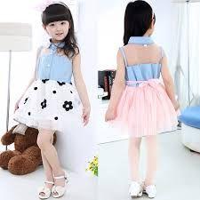 Resultado de imagen para vestidos de jean para niña