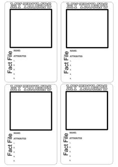 Top Trumps Template Group Work Year 2 Maths Homework Whale