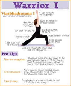 Working on Warrior 1, some tips. This pose is good for the base chakra