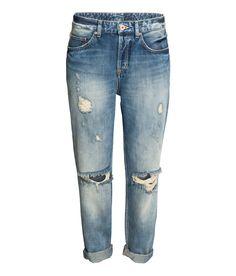Boyfriend Low Ripped Jeans   H&M Denim
