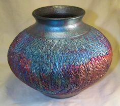 7.5 Textured Raku Vase by DMWPotteryStudio on Etsy, $50.00