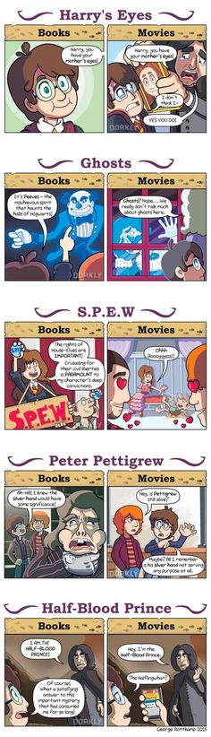 Harry Potter: Books vs Movies