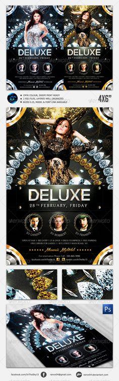 Deluxe Nightclub Flyer Template  #GraphicRiver